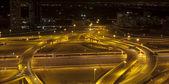 Traffic on the night road — Stock Photo