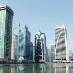 Town scape at summer. Dubai Marina. — Stock Photo