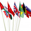 World flags — Stock fotografie