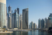 Town scape at summer. Dubai Marina. — Stock Photo