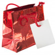 Gift bag isolated on the white background — Stock Photo