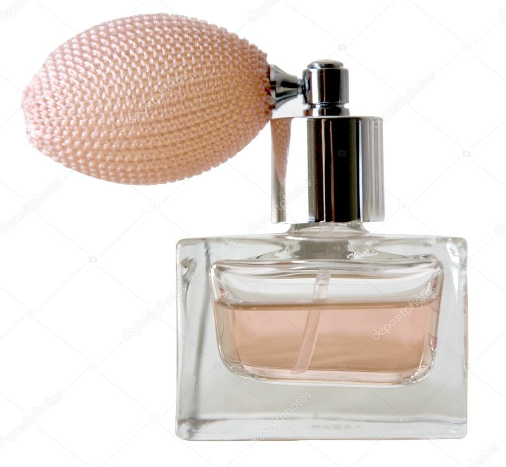 Isolated bottle of perfume on the white  Stock Photo #6355865