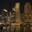 Town scape at night time. Panoramic scene, Dubai. — Stock Photo #6364016