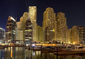 City in the night , Dubai — Stock Photo