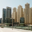 Town scape at summer. Panoramic scene, Dubai. — Stock Photo