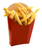 French fries in the red box — Stock Photo