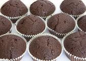 领域的巧克力松饼 — 图库照片