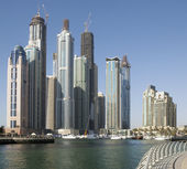 Town scape at summer. Panoramic scene, Dubai. — 图库照片