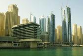 Town scape at summer. Panoramic scene, Dubai. — Stock Photo