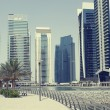 Town scape at summer. Panoramic scene, Dubai. — Stock Photo #6380873