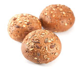 Chléb. semena buchty na bílé — Stock fotografie