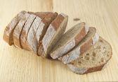 čerstvý chléb, plátky — Stock fotografie