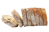 Fresh bread sliced — Stock Photo