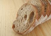 Fresh bread sliced — Stock Photo