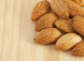 Pile of almonds nuts — Stock Photo