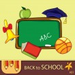 Colorful school background — Stock Vector #6401016