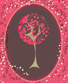 Valentine's tree — Vector de stock