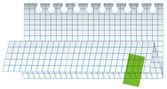 Foglio di carta piegata checked vettoriale — Vettoriale Stock