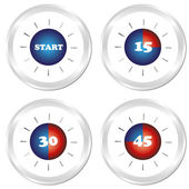 Set of timer. EPS10 — Stock Vector