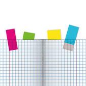 ноутбук. открыть страницу. векторные иллюстрации — Cтоковый вектор
