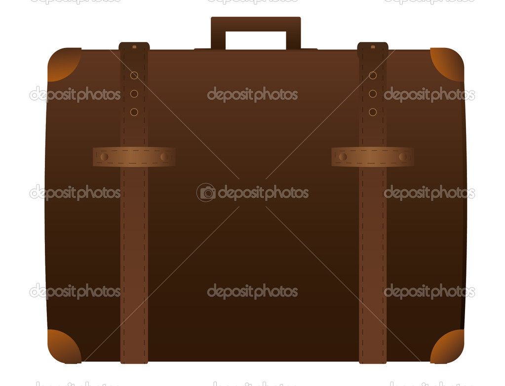 Suitcase  isolated on the white  Stock Vector #6542108
