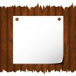 Empty notice paper on the fence. — Stock Vector