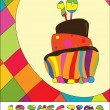 Numbers for  Birthday Cake — Image vectorielle