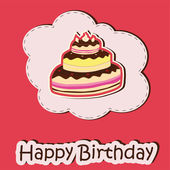 Birthday Celebration card — Stock Vector
