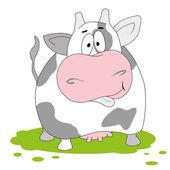 Cow. Funny vector illustartion — Stock Vector