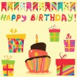 Royalty-Free Stock Vector Image: Retro Birthday Celebration Elements
