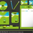 Set of corporate identity templates. vector illustration. — Stock Vector