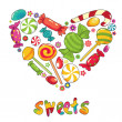 Royalty-Free Stock Vector Image: Sweets heart