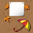 Autumn background. Thanksgiving card — Stock Vector