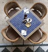 Stoliku kawiarnianym. arabski styl. — Zdjęcie stockowe