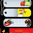 Vector set of price tags for school. — Stock Vector