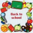 Colorful school background — Vector de stock #6644944