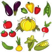 Set of vegetables — Stock Vector