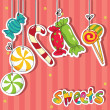 Sweets on strings — Stock Vector