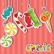 Sweets on strings — Stock Vector #6652908