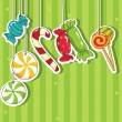 Royalty-Free Stock Vector Image: Sweets on strings