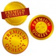 Premium Quality Seals — Stock Vector