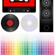 Royalty-Free Stock Vector Image: Audio - set
