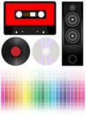 Audio - set — Stock Vector
