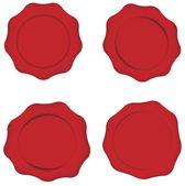 Set of Wax Seals — Stock Vector