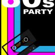 80s Party Poster — Stock Vector