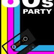 80s Party Poster — Stock Vector #5763729