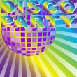 Retro Disco Party Background — Stock Vector #5781453