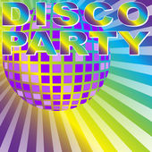 Retro Disco Party Background — Stock Vector