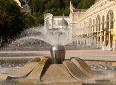 Singing Fountain, Marianske Lazne — Stock Photo