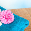 Flowers and Towel — Stock Photo #6688288
